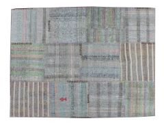 A17079  Zakatala Patchwork Rug  198 cm x 150 cm