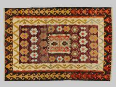 A2012421  Kilim with old yarns  265 cm x 178 cm