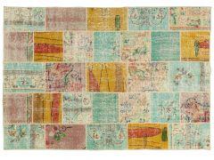 A210139  Patchwork rug  203 cm x 140 cm