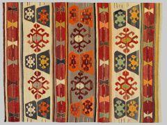 A2102155  Kilim with old yarns  258 cm x 180 cm