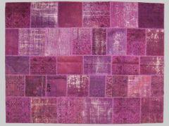 Monochromic patchwork rug