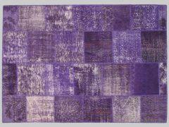 A110869  Monochromic patchwork rug  222cm x 157cm